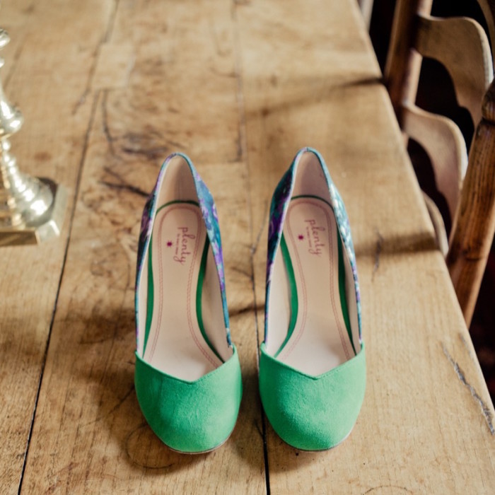 {green wedding shoes}