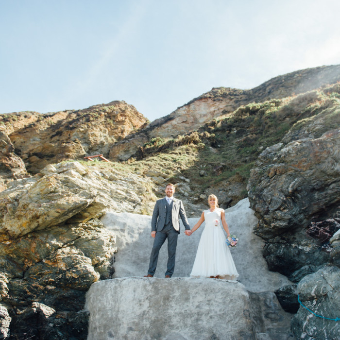 Trevaunance Cove wedding