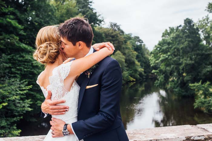 bride and groom penpont powys