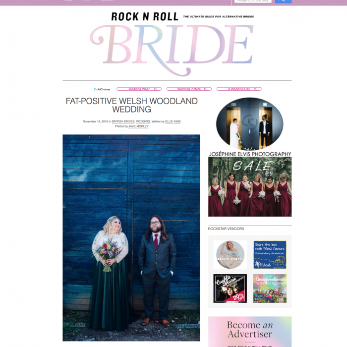 Lucy and Rob- Rock and Roll Bride feature